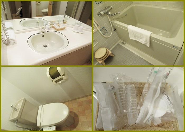 ホテル「ヴィラ北軽井沢エルウイング」の風呂やトイレ