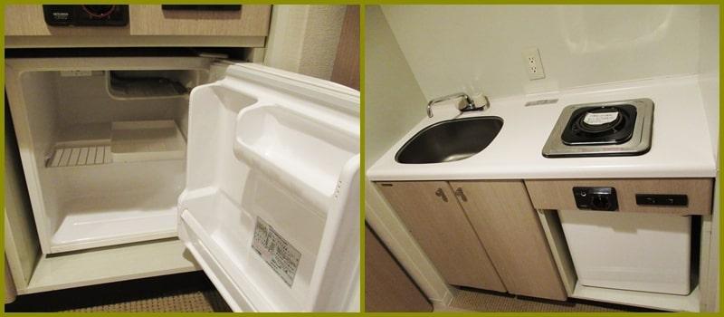 ホテル「ヴィラ北軽井沢エルウイング」冷蔵庫