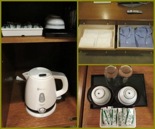ホテル「ヴィラ北軽井沢エルウイング」ポットやお茶