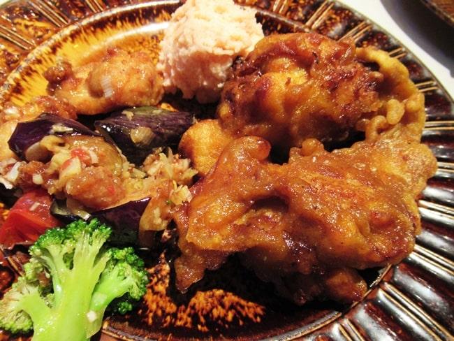 軽井沢で前菜バイキング チキン