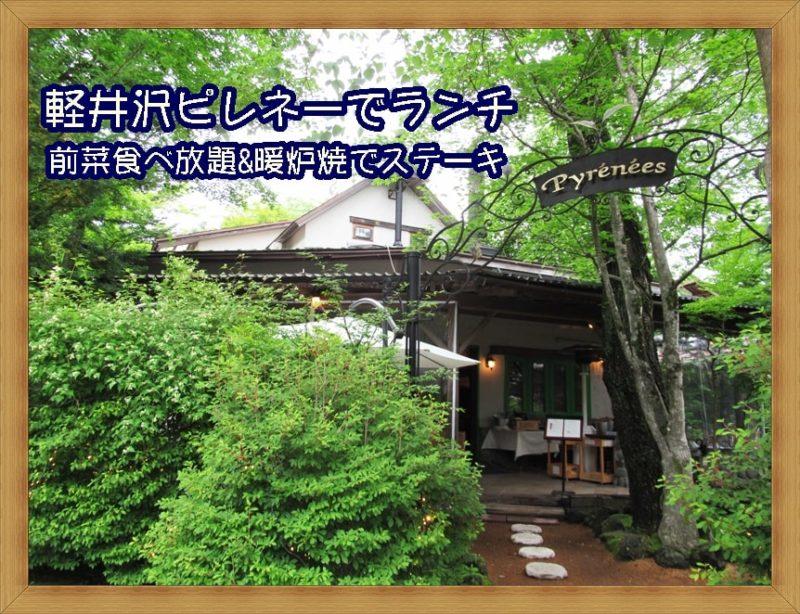 軽井沢ピレネーでランチ 暖炉焼きで肉 前菜食べ放題とステーキ 口コミ&レビュー