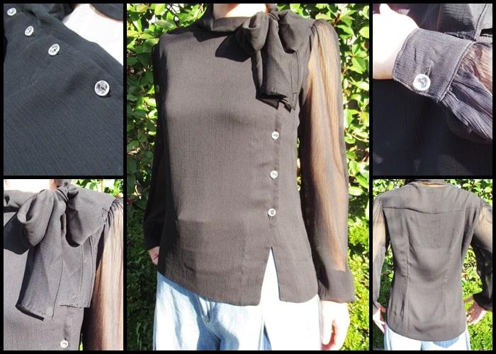 yooxs ユークス 洋服 通販 ボウタイ リボン 40代 ファッション アラフォー 安い