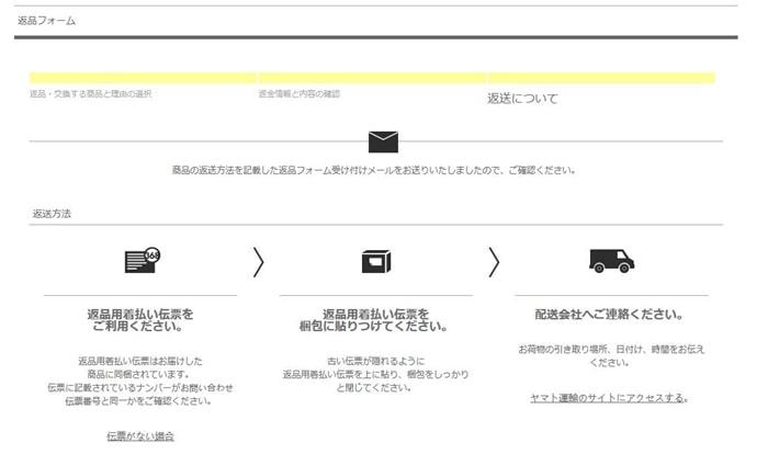 YOOX 返品 交換 送料 手数料 無料 返品フォーム ユークス