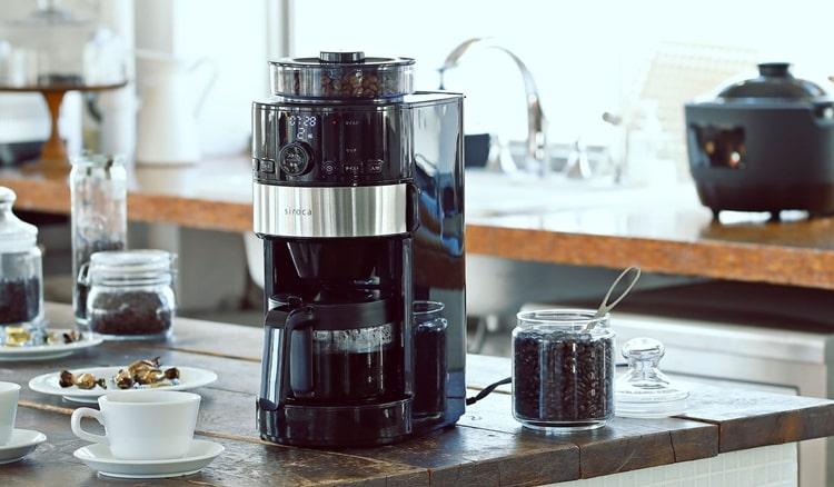 シロカコーヒーメーカー 美味しい,全自動,ミル付き,高級,