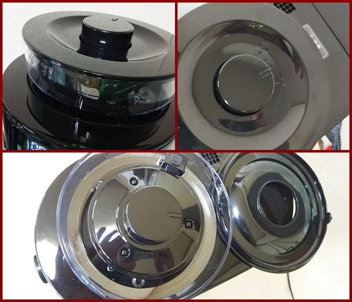シロカ コーン式全自動コーヒーメーカー,使い方,手入れ,掃除,違い,計量