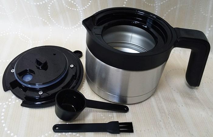 siroca コーン式全自動コーヒーメーカー,コーヒーポット,ステンレス