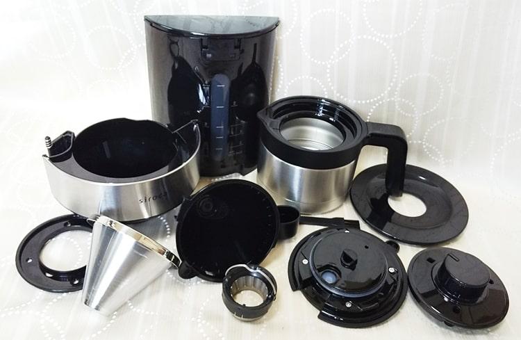 シロカ コーン式コーヒーメーカー,使い方,手入れ,掃除,水洗い